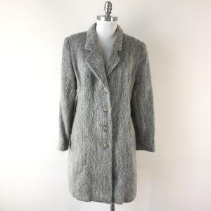VTG Marvin Richards XL 12 14 mohair gray Wool coat